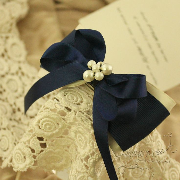 Aliexpress.com : Buy Hair accessory handmade navy style blue ribbon bow ribbon pearl hair accessory of hairpin hair pin on Home Living. $9.89