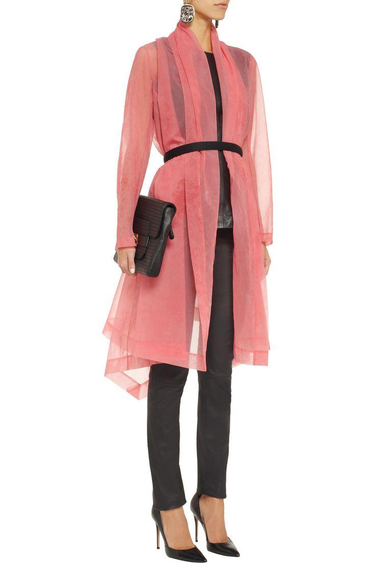 Draped organza coat by Donna Karan #lapinsapin