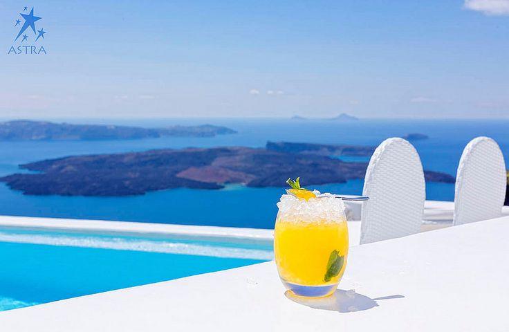 Refreshing cocktails at the Pool Bar - Astra Suites, Imerovigli, Santorini, Greece |