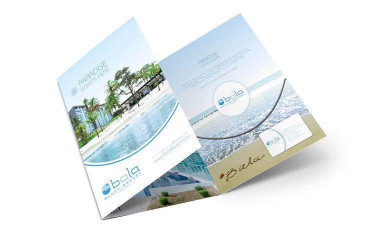 Bala Beach Resort sales folder design