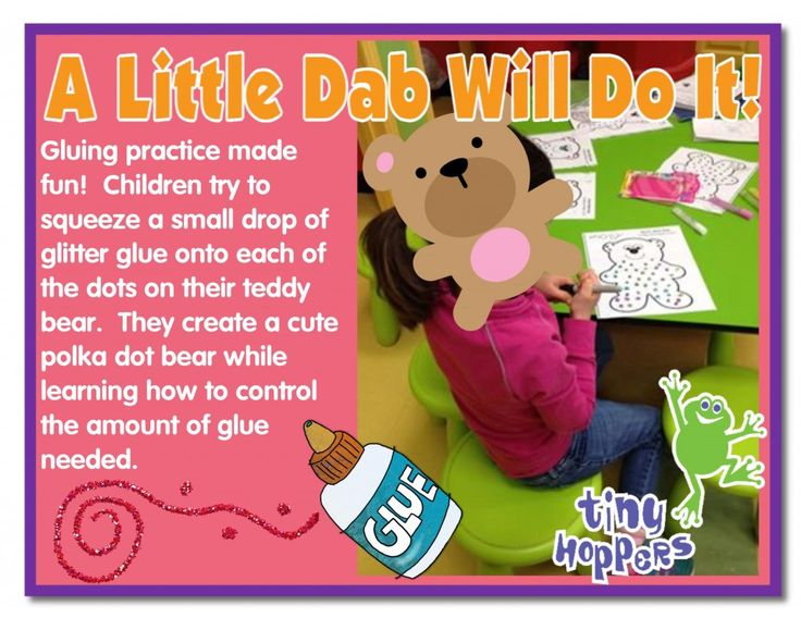 A Little Dab Will Do It Gluing Activity - Tiny Hoppers