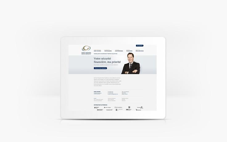 Services Financiers Gino Vachon | www.assurancesginovachon.com | Site Web | Team Marketing • Web • Design