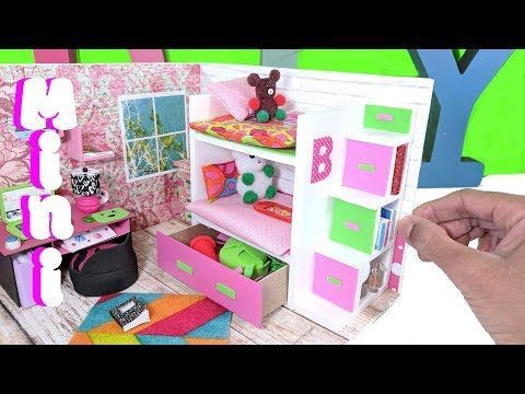Diy Miniature Bunk Bed With Drawer Bookcase For Lol Lps Or