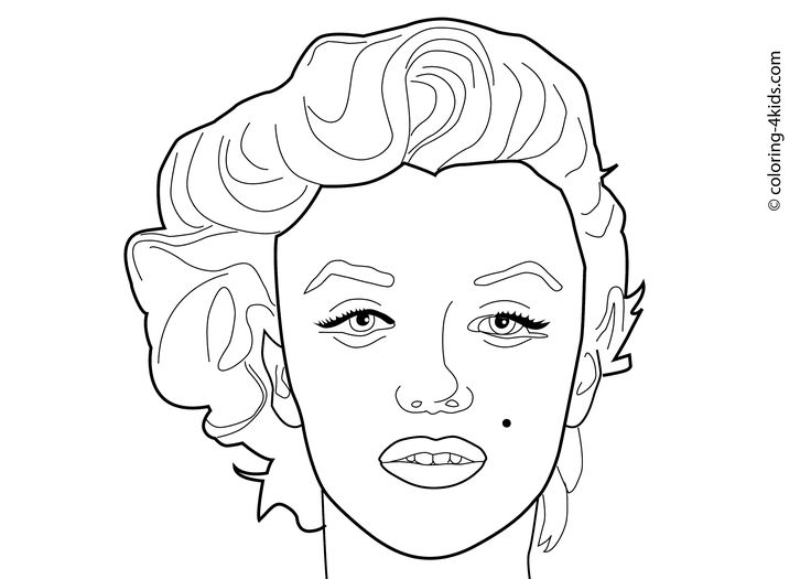 marilyn monroe coloring pages coloring pages pinterest kid