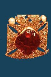 The Black Princes Ruby, which now forms part of the crown jewels, was presented to Edward, the Black Prince by  Pedro the Cruel of Castile,  in reward for Edwards putting down the revolt of Pedros illegitimate brother, Henry of Trastamara.  The ruby has a long and fascinating history, possibly originating  from the historic ruby mines in Badakshan in present day Tajikistan, in middle of the fourteenth century it was in the  possession of Abu Said, the Moorish Prince of Granada.
