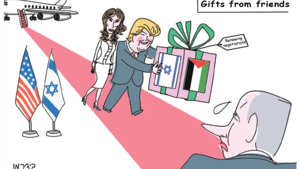 Illustration: Trump may have the power to make his Jerusalem Syndrome hallucinations come true