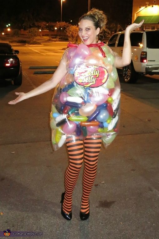 Jelly Belly Jelly Beans - If you like jelly beans here's a fun and easy to make Halloween costume for you.