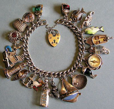 22 charm vintage sterling (800) nautical bracelet from eBay http://www.ebay.com/itm/VINTAGE-ANTIQUE-STERLING-800-SILVER-NAUTICAL-SEA-OCEAN-CHARM-BRACELET-22-CHARMS-/350937793821