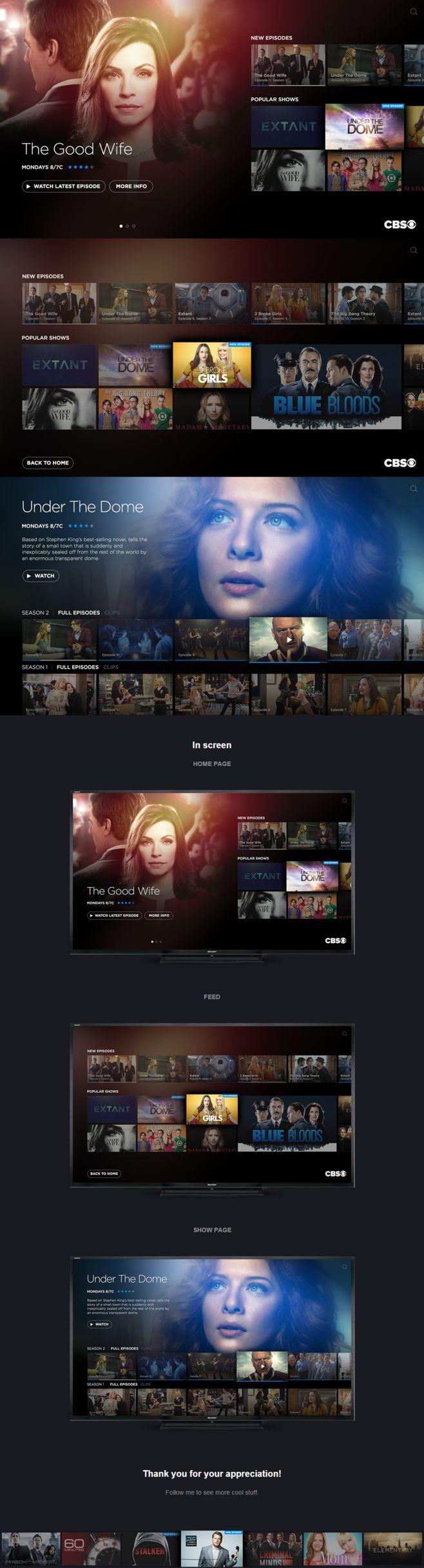 CBS TV UI/UX Concept...