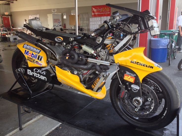Britten V1000 motorbike at New Jersey Motorsports Park. One of only 10 made before it's creator tragically lost his life to cancer at the age of 45.