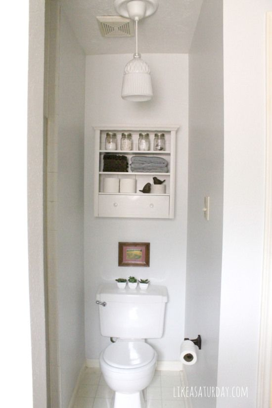 Master bathroom nook after like a saturday pinterest for Space saving bathroom designs