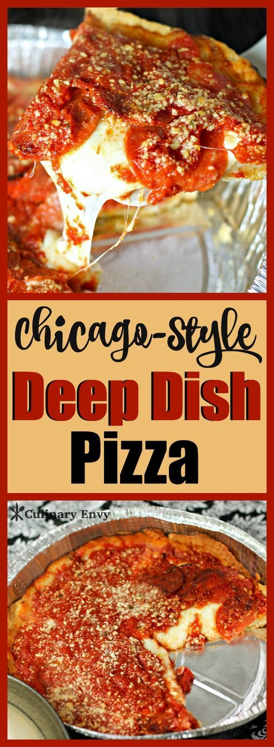 Chicago Deep Dish Pizza is the perfect comfort meal with its flaky, buttery crust, oozing mozzarella and zesty Italian pepperoni. 2 options to choose from. You'll love it! Click to read more!