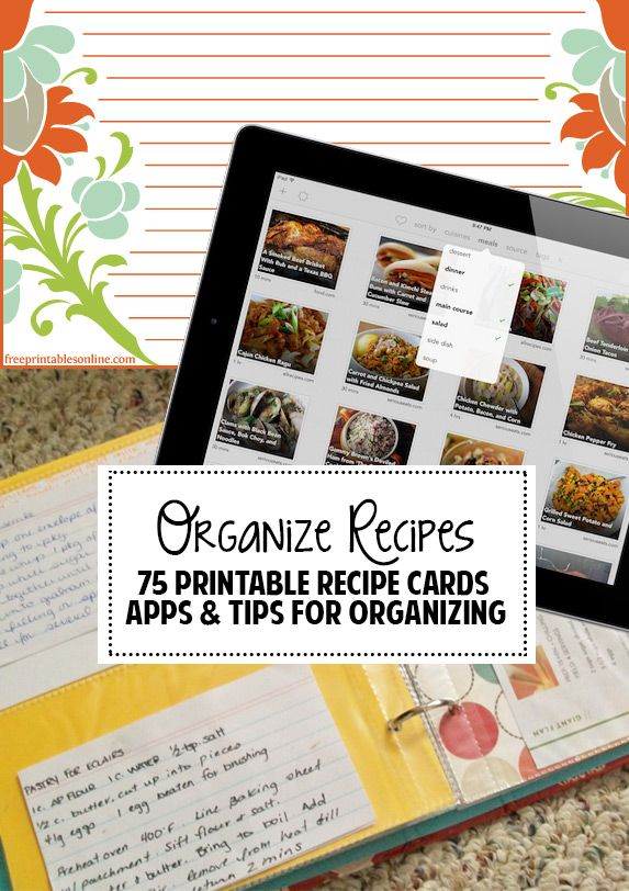 Great tips  app suggestions for organizing recipes!