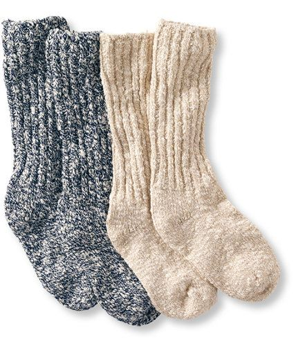Women's Cotton Ragg Camp Socks,Two-Pack: Socks | Free Shipping at L.L.Bean