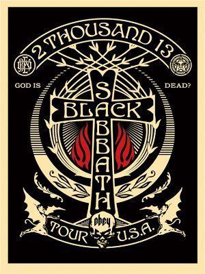 black sabbath Shepard Fairey Black Sabbath #Tour Posters 2013 Release Details - http://sound.#saar.city/?p=27800