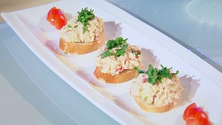 Pastă de ton cu cremă de brânză și legume. Unul dintre cele mai ușoare și bune aperitive