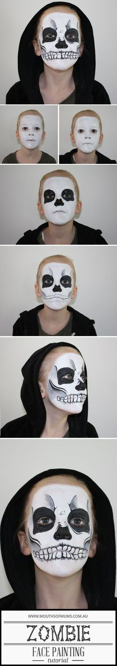 Kids Zombie Face Painting Tutorial