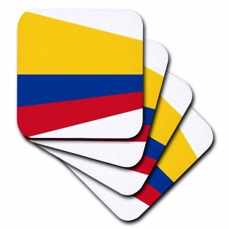 3dRose image of columbia flag in contemporary style, Soft Coasters, set of 4