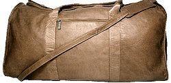 "25"" Leather Travel Duffel"