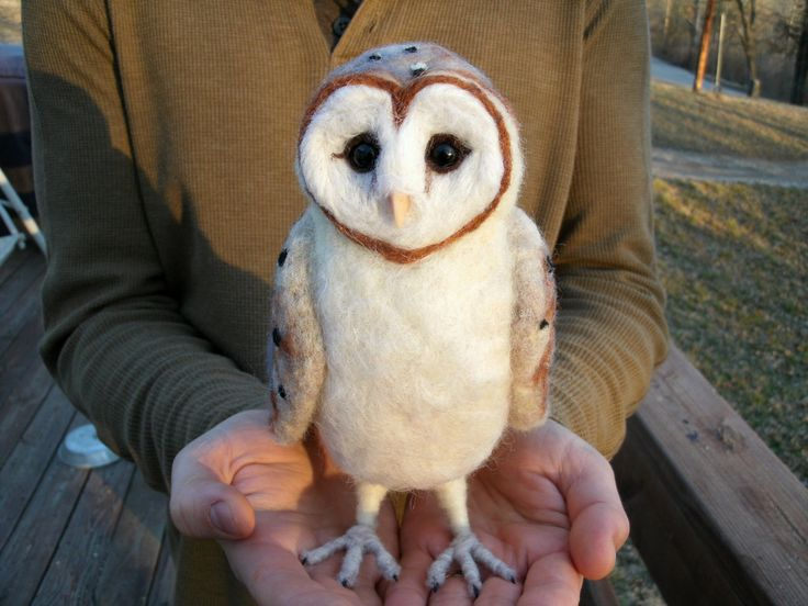 Large Needle Felted Barn Owl by JessieDockins | cats and ...