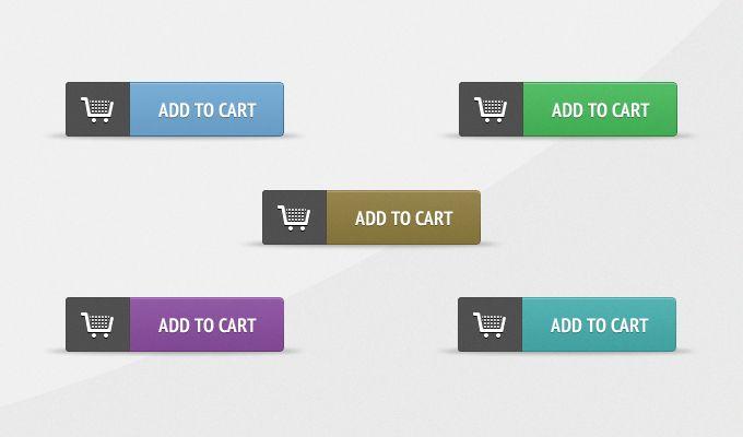 Add To Cart Buttons - 365psd