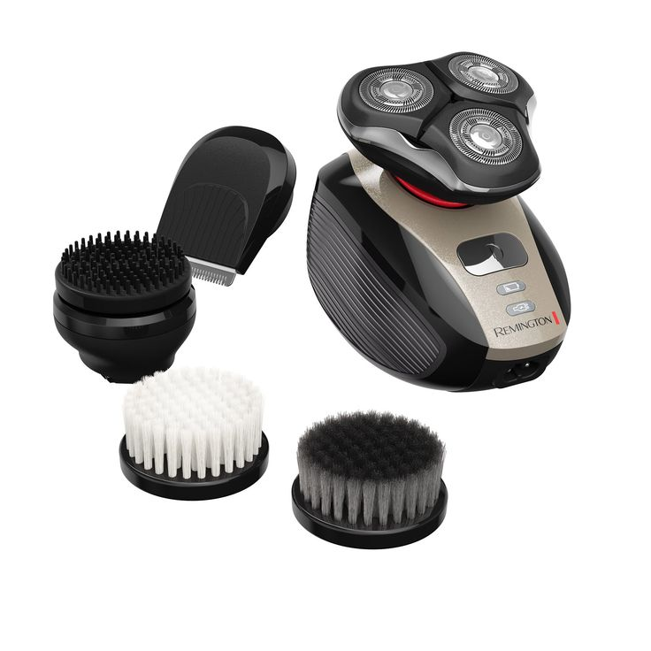 Remington XR1410 Verso Wet & Dry Men's Shaver & Trimmer Grooming Kit, Men's Electric Razor, Facial Cleaning Brush, Beard Trimmer. Total grooming in the palm of your hands that includes five attachments: Gentle bristle brush for daily cleansing; Brush with charcoal infused bristles for deep scrubbing; Pre-shave prep brush to lift hairs; High performance triple head rotary shaver delivering a close result; Precision trimmer for those finishing touches on beards, mustaches, sideburns and…