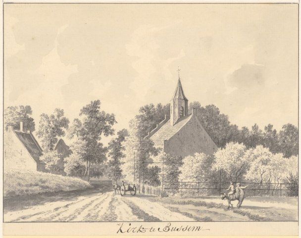 "Tavenier, Hendrik (1734-1807) ""Kerk te Bussem 1786"""