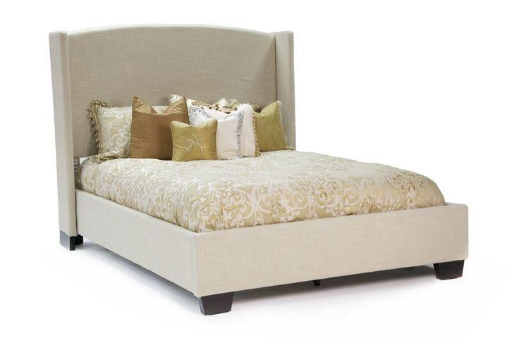 Mor Furniture For Less Linen Genova Tapered Cal King Bed