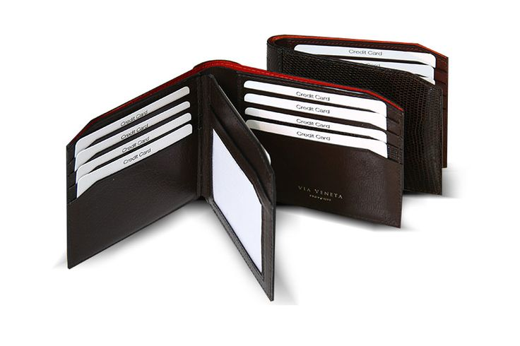 genuine lizard skin mens wallet from Via Veneta