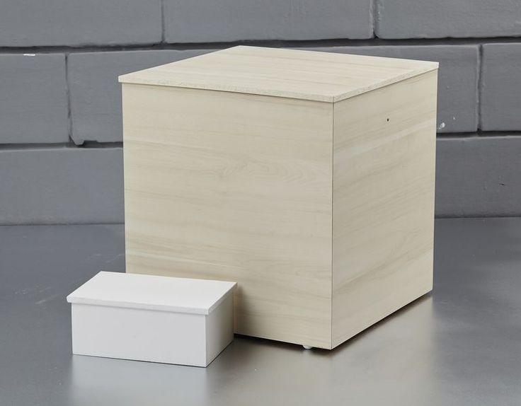 Κουτί κύβος σε φυσική απόχρωση