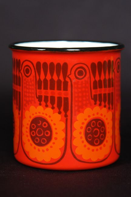red, vintage Finel enamel - I just found one of these :))