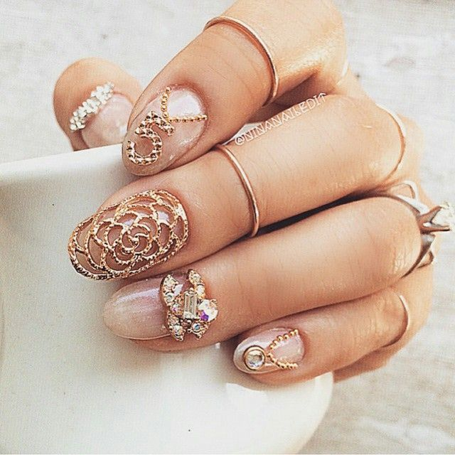 By Ninanailedit Featuring Several Of Our Gold Nail Charms For Your Accessories At Dailycharme ℕailℙerfection In