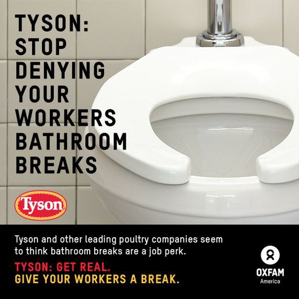 This week a new report from Oxfam showed the ugliness of corporate greed in America's food processing plants. The new report showed that workers from Tyson Foods, Pilgrim's Pride, Perdue and Sanderson Farms, were routinely not given bathroom...