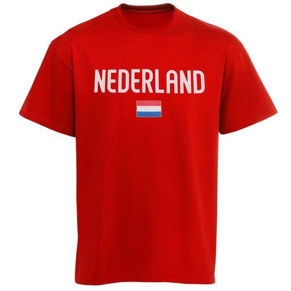 Netherlands Country Flag T-Shirt - Orange - $11.99
