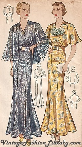 1930's dress I love the jacket on the blue one I wear a black one similar and a butterfly one to work sometimes its comfy