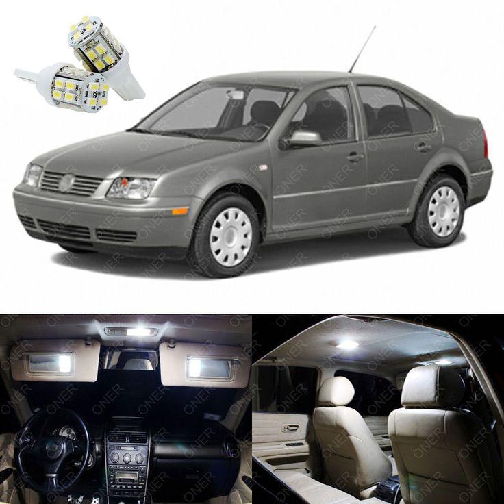 11 x Xenon White LED Interior Light Package For Volkswagen VW Jetta 1999 - 2004 #Motors #Parts #Accessories #T10 168 2825 DE3022 DE3175 194