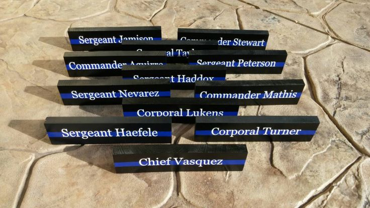 Thin Blue Line Desk Plaque, Name Plate. Police Officer gifts, Police Wedding, Police retirement, Police Wedding Gifts by LEOWONDUTY on Etsy https://www.etsy.com/listing/235547884/thin-blue-line-desk-plaque-name-plate