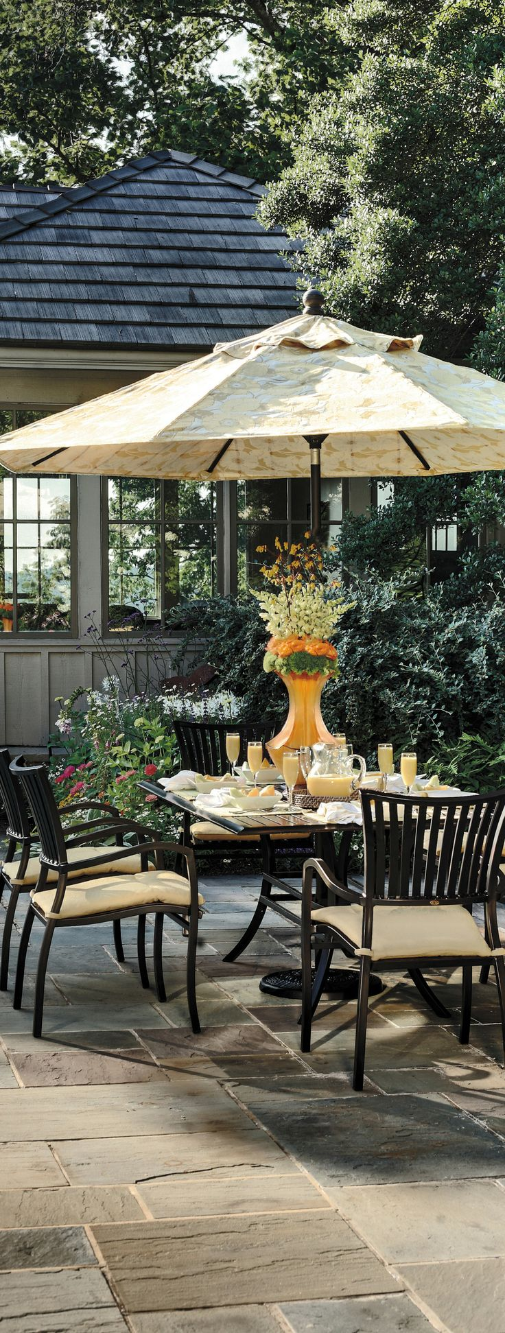 Enjoy Outdoor Dinners With The Stackable Strata Aluminum Luxury Outdoor  Furniture Set From Summer Classics!