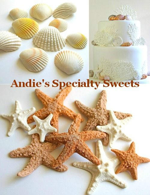 Seashell & Sea Life Chocolate Candy by Andie's Specialty Sweets: http://beachblissliving.com/seashell-chocolate-candy/ Little works of art!