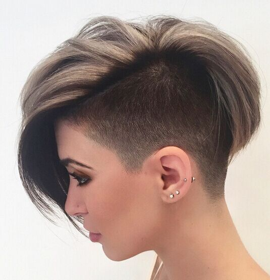 Not sure I could PULL this one OFF....I need height on my head to look good. If my hair hung flat...omg...It is not like I could glue it back. Shaved Short Haircut