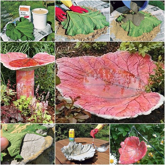 How to DIY Sand Cast Birdbath in Leaf Shape tutorial and instruction. Follow us: www.facebook.com/fabartdiy