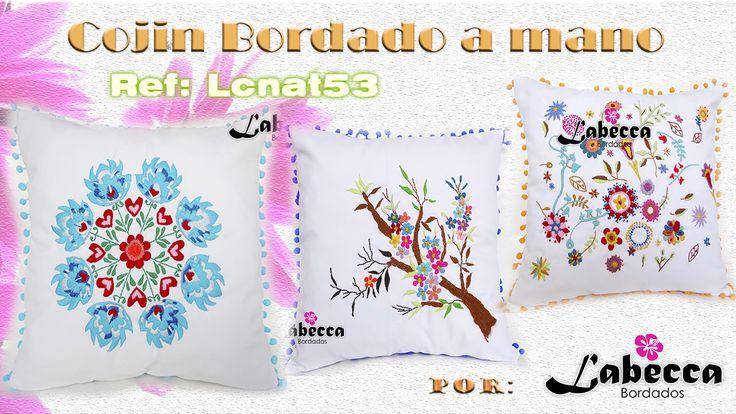 Cojínes Bordados a Mano, Decoración para Hogar by Labecca Bordados! Compralos en nuestra tienda ONLINE: https://labeccabordados.mitiendanube.com/