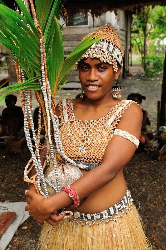 Bridal shell attire - Langa Langa Lagoon, Malaita, Solomon Islands