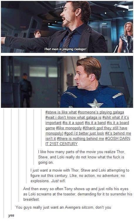 Hahaha I love the Avengers.