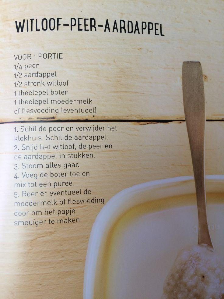 Sofie Dumont witloof peer aardappel fruitpap
