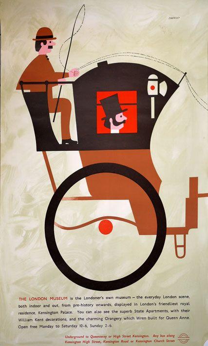 Tom Eckersley original London Transport London Museum poster, 1963