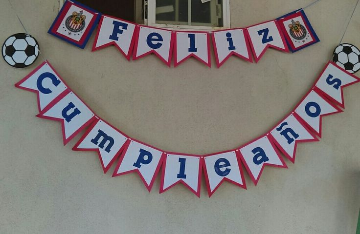 Chivas soccer birthday banner.
