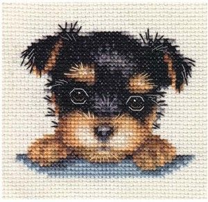 YORKSHIRE TERRIER PUPPY, Dog ~ Full counted cross stitch kit All materials | eBay