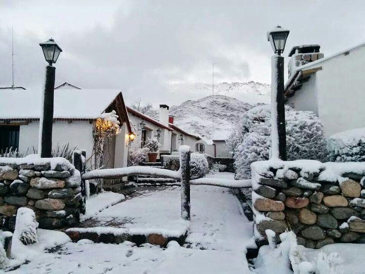 Paisaje nevado en Tafi del Valle -Tucuman-Argentina