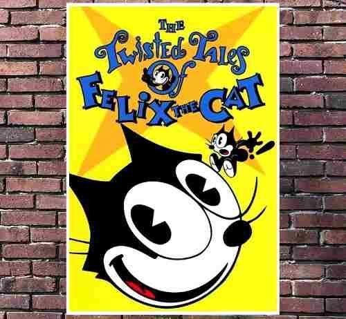 poster exclusivo gato felix cartoon vintage retro - 30x42cm